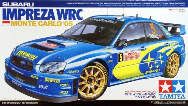 1:24 Scale Subaru Impreza WRC 2005 Rally Model Kit #1235