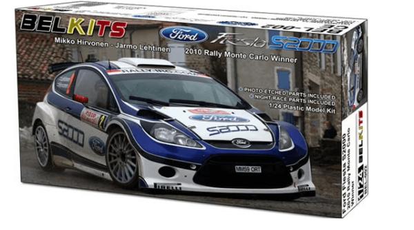 1:24 Scale Belkits Ford Fiesta ST S2000 Rally Car Model Kit #1284P