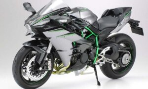 1:12 Scale Tamiya Kawasaki Ninja H2 Carbon Model Bike Kit #1272p