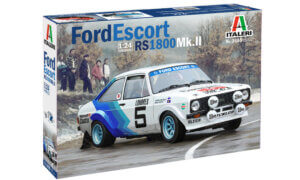 1:24 Scale Italeri Ford Escort Mk2 White/Blue Model Kit #1232p