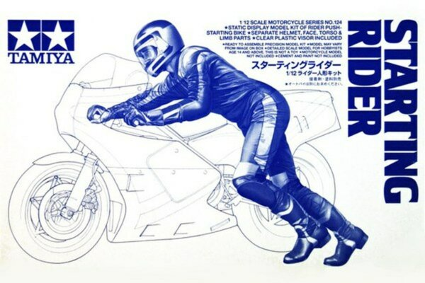 1:12 Scale Tamiya Starting Off Rider For all 1:12 Bike Model Kits #1223