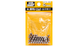 Mr Hobby Mr Metal Ball Set - Put one inside your paint jars to keep paint mixed/wet #2103