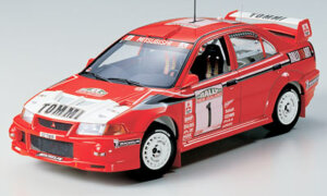 1:24 Scale Tamiya Mitsubishi Lancer Evo 6 VI Tommi Makkinen Model Car Kit #1266P