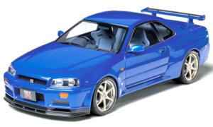 1:24 Scale Nissan Skyline R34 GTR VSpec Model Car Kit #1253P