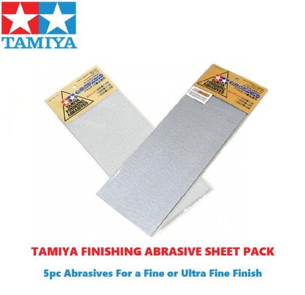 Tamiya  Finishing Abrasives Sheet Pack *CHOOSE FINISH for Prep/Painting Model Kits #2115