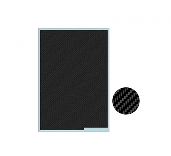 1:24 Scale Carbon Fibre Decal Sheet 190x130mm for Model Cars #2118