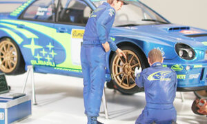 1:24 Scale Rally / Race Mechanics Scene Set Model Kit #1236
