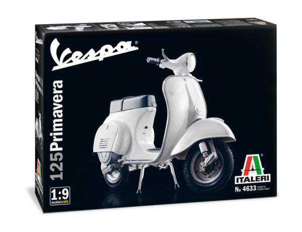 1:9 Scale Italeri Vespa Primavera 125 Scooter Model Kit #1252