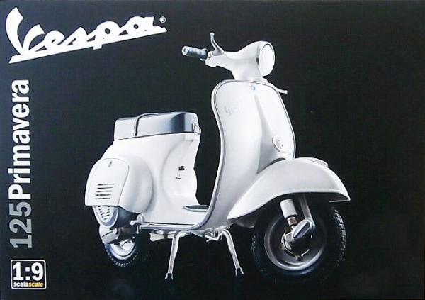 1:9 Scale Vespa Primavera 125 Scooter Model Kit #1252