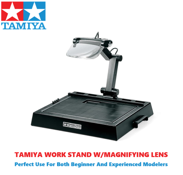 Tamiya Workstation With Magnifying Lens For Building Model Kits #1285