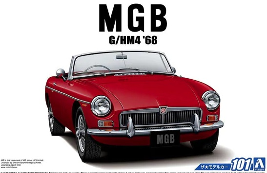 1:24 Scale Aoshima MG MGB G/HM4 MK2 Roadster 1968 Model Kit #
