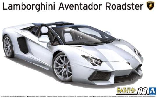 1:24 Scale Aoshima Lamborghini Aventador LP700-4 Roadster '12 Model Kit #1476p