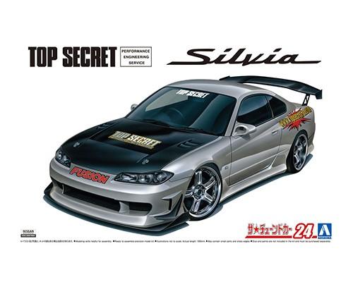 1/24 Scale Aoshima Nissan Silvia S15 Top Secret Model Kit #1475