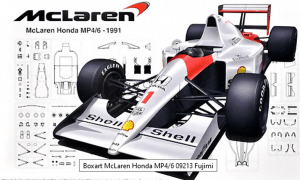 1:20 Scale Fujimi McLaren F1 MP4/6 Racing Car Model Kit #1485