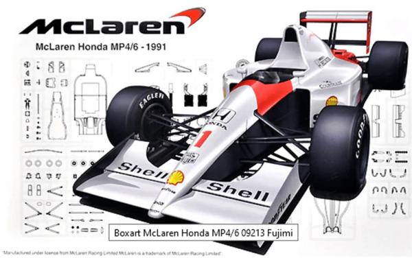 1:20 Scale Fujimi McLaren F1 MP4/6 Racing Car Model Kit #1485