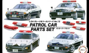 1:24 Scale Police Patrol Car Parts Set #1306