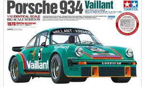 1:12 Scale Tamiya MASSIVE Porsche 911 934 Vaillant Race Car Model Kit #1498