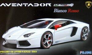 1:24 Scale Lamborghini Aventador LP700-4 Bianco Rosso Model Kit #