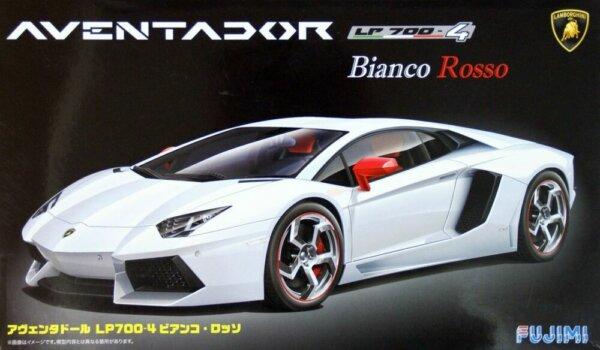 1:24 Scale Fujimi Lamborghini Aventador LP700-4 Bianco Rosso Model Kit #773