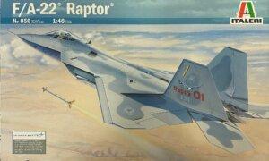 1:48 Scale Italeri F-22 Raptor Plane Model Kit  #1399