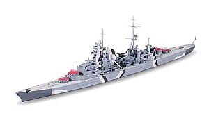 1:700 Scale Tamiya Prinz Eugen German Heavy Cruiser Ship Model Kit #1427