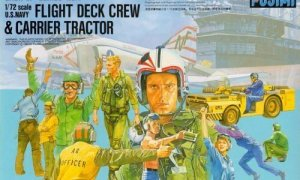 1:72 Scale US Navy Fight Deck Crew & MD-3 Tractor Model Kit  #1305