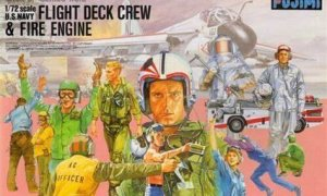 1:72 Scale US Navy Fight Deck Crews & Fire Engine Model Kit  #1307