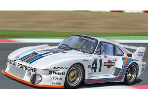 1:24 Scale Porsche 935 Martini Model Car Kit #1443P