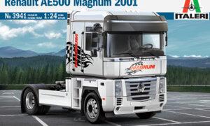 1:24 Scale Italeri Renault AE500 Magnum Truck Model Kit #1447P