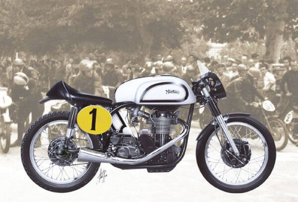 1:9 Scale Norton Manx Classic Motorcycle Model Bike Kit #