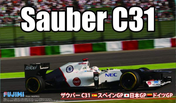 1:20 Scale Fujimi Sauber F1 C31 Racing Car Model Kit #1482