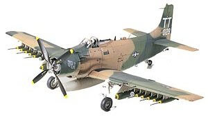 1:48 Scale Tamiya A-1J Skyraider U.S Air Force Plane Model Kit  #1434p