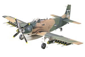 1:48 Scale Tamiya A-1J Skyraider U.S Air Force Plane Model Kit #1434