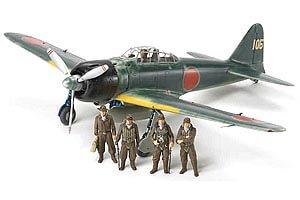 1:48 Scale Tamiya A6M3/3A Zero Zeke Plane Model Kit #1437