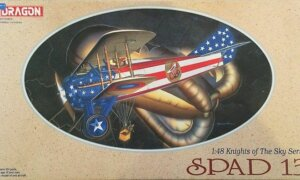 1:48 Scale Dragon Knights Of The Sky Spad 13 Plane Model Kit  #1424