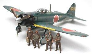 1:48 Scale Tamiya Mitsubishi A6M3 3A Zero Plane Model Kit  #1437p