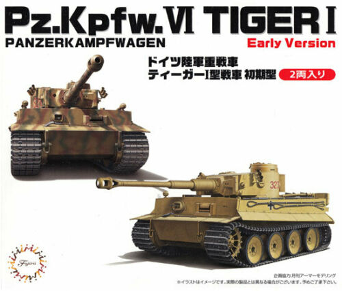 1:72 Scale Fujimi German Pz.Kpfw. VI Tiger I Tank Model Kit  #1375p