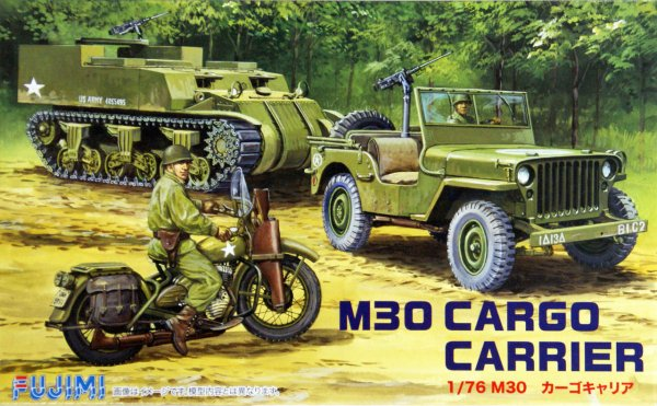 1:76 Scale Fujimi US M30 Cargo Carrier Vehicle Model Kit  #1383p