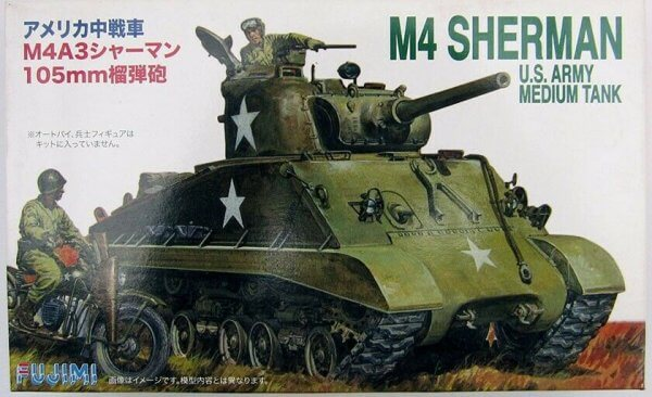 1:76 Scale US M4A3 Sherman Tank Model Kit #1385p