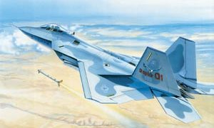 1:48 Scale Italeri F-22 Raptor Plane Model Kit  #1399