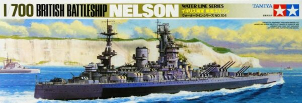 1:700 Scale Tamiya HMS Nelson Battleship Model Kit  #1441