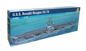 1:720 Scale Italeri USS Ronald Reagan Ship Model Kit  #1407