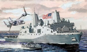 1:700 Scale Dragon USS New York LPD-21 Ship Model Kit #1423