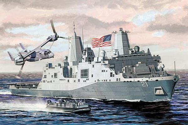 1:700 Scale Dragon USS New York LPD-21 Ship Model Kit  #1423