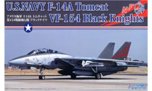 1:72 Scale Fujimi F14-A Tomcat VF-154 Black Knights Plane Model Kit  #1321p