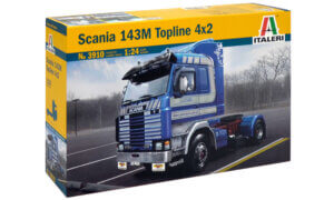 1:24 Scale Italeri Scania 143M Topline Truck Model Kit  #1460P