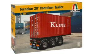 1:24 Scale Italeri 20ft Tecnokar Container Trailer Model Kit  #1452p