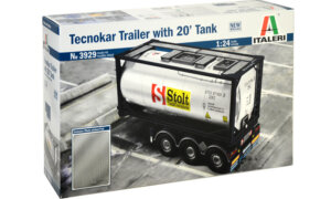 1:24 Scale Italeri Tecnokar 20ft Tank Trailer Model Kit  #1445p