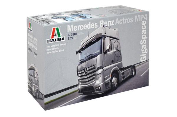 1:24 Scale Italeri Mercedes Benz Actros MP4 GigaSpace Truck Model Kit  #1458p