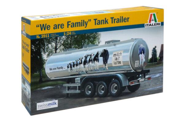 1:24 Scale Italeri 40' We Are Family Tank Trailer Model Kit  #1453p